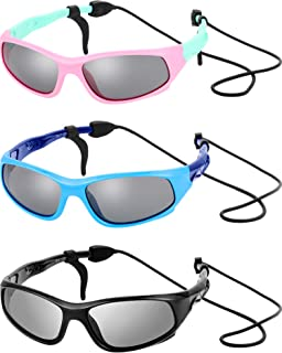 3 Sets Kids Sunglasses Children Sports Sunglasses with...