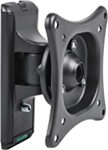 DYNAVISTA Adjustable Tilt Swivel TV Wall Mount Bracket Fits up to 24 Inch LCD LED TV Flat Screen Monitors Low-Profile Rotating Tilting TV Mount Compatible with VESA 75 and 100, Max 25 Lbs (Black)