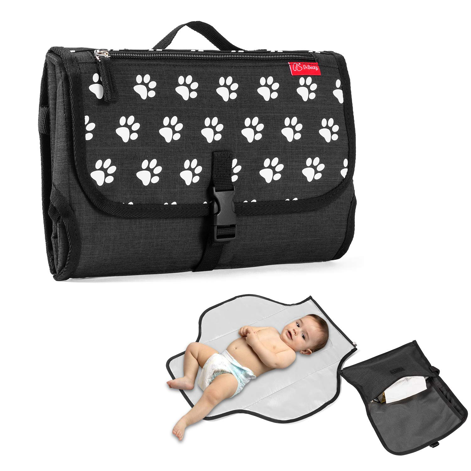 Baby Portable Changing Pad Diaper Bag Max 61% OFF Outstanding Bla Mat Travel pad