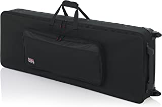 Gator Cases Lightweight Keyboard Case with Pull Handle and Wheels; Fits 76-Note Keyboards (GK-76)