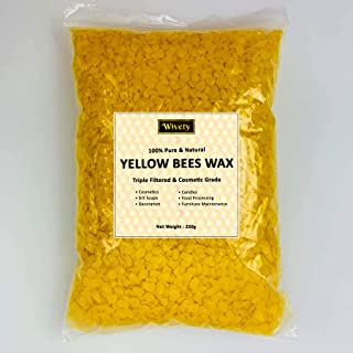 Wivety Beeswax pellets for DIY Candle and Lip Balm making (250g)