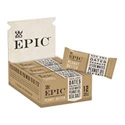 Epic Provisions EPIC Performance Bar Peanut Butter, 16.83 oz, 9 Count