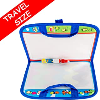 Drawing Mat Kids Travel Accessories - Foldable Water Doodle Painting Learning Board, Educational Magic Toy for Toddlers, Mess-Free Coloring. Best Road Trip Toys Gifts for 2-5 Years Old Boys Girls