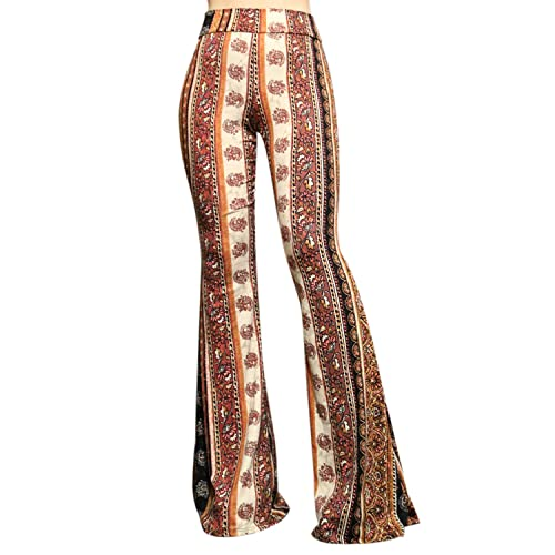 376e8084151 ShopMyTrend SMT Women s High Waist Wide Leg Long Palazzo Bell Bottom Yoga  Pants
