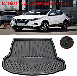 ZYHW Black Rear Trunk Tray Auto Cargo Liner Boot Rear Trunk Mat Floor Mat Cover Protector for 2007-2018 Nissan DUALIS Qashqai