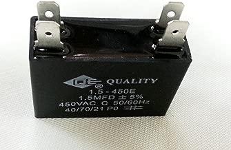 1 piece Ceiling Metallized AC Fan Capacitor (1) - 1.5mfd 1.5uf 1.5 uf - 450V 450VAC - 50/60HZ