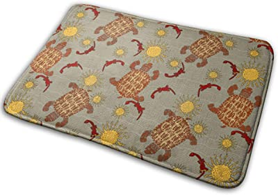 Tortoise African Sun Carpet Non-Slip Welcome Front Doormat Entryway Carpet Washable Outdoor Indoor Mat Room Rug 15.7 X 23.6 inch