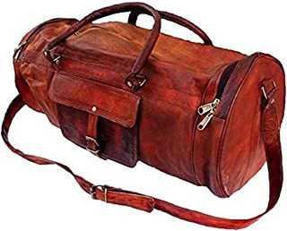 aa618fe4b707 Leather Travel Duffels: Buy Leather Travel Duffels online at best ...
