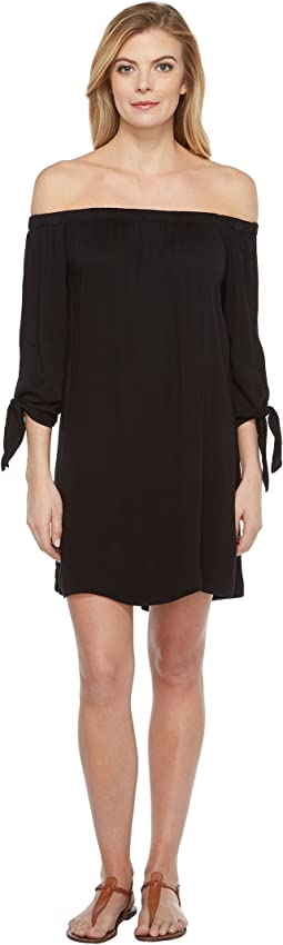 Romy Rayon Off Shoulder Tie Sleeve Dress
