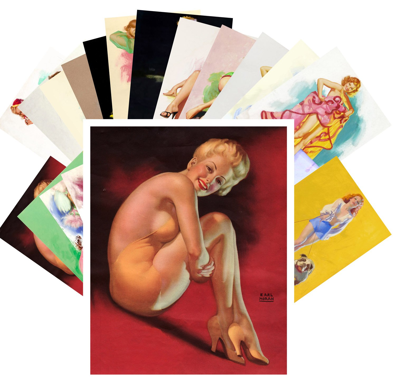 Pinup Postcard Pack 24pcs Vintage Pinup Sexy Girls by Earl Moran