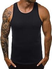 OZONEE Herren Tank Top Tanktop Tankshirt Ärmellos Bodybuilding Shirt Unterhemd T-Shirt Muskelshirt Achselshirt Ärmellose Training Gym Sport Fitness Freizeit Rundhals 777/7835BO