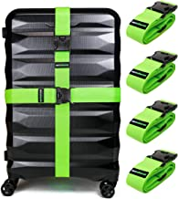 Untethered 4-Pack Luggage Straps | Belts to Keep Your Suitcase Secure While Traveling, Premium Accessory for Travel Bag Closure.
