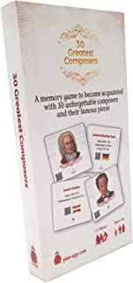 Greatest Composers - Unique Memory Card Game for The Whole Family - Learn About 30 Classical Composers in an Easy and Fun ...