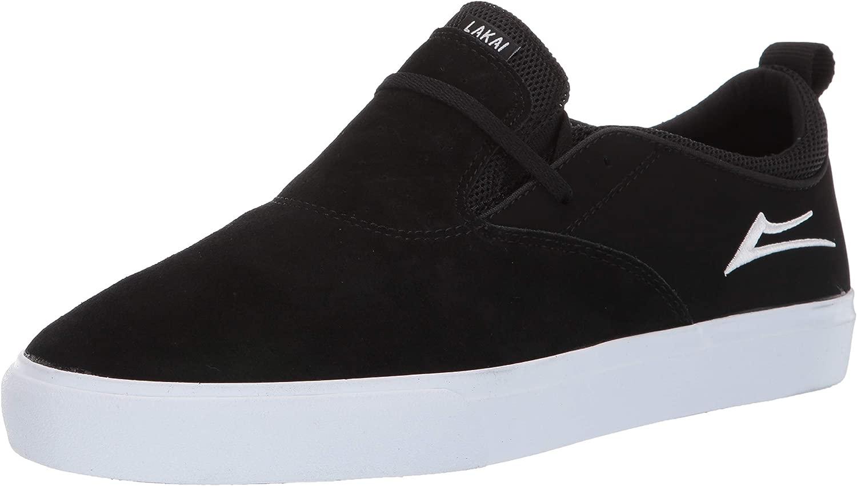 Lakai Footwear Riley 2 - Sautope da Tennis in Pelle Scamosciata, Coloreee  Nero Bianco