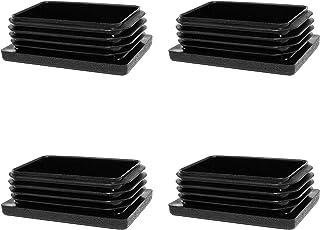 Enkotrade 4 stycken lameller för rektangulära rör, 25 x 20 mm, rörskydd av högkvalitativ polyeten plast, propp, ändplugga...