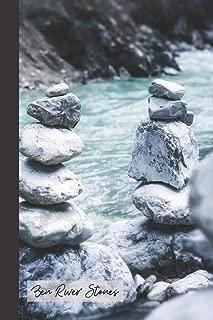Zen River Stones: small ZEN River Positivity Task planner & Gratitude Journal/Notebook to write in (6'' x 9'')