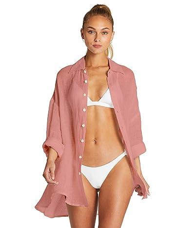 Vitamin A Playa Shirtdress Cover-Up