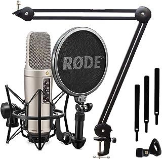 Rode NT2-A - Set de micrófono condensador y soporte de mesa Keepdrum MS138