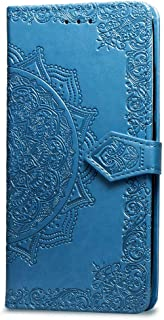 Matop Compatible for Galaxy A6 Plus/Galaxy A6+ Wallet Leather Case Luxury Folio Flip Stand Magnetic [Kickstand Feature] Credit Card Holder ID Slot Mandala Anti-Scratch Shockproof Protective Cover