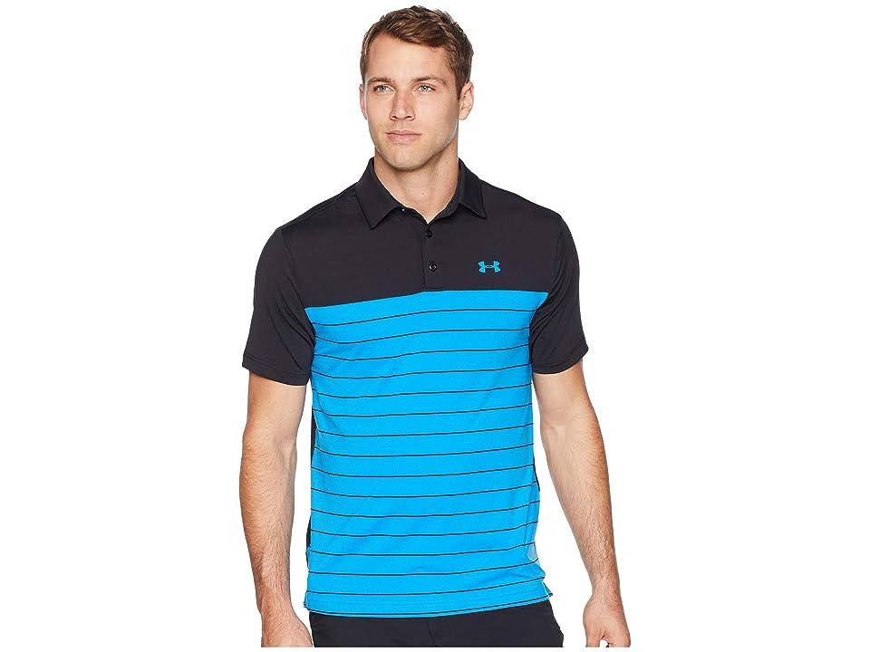 Under Armour Golf UA Playoff Polo (Black/Blue Circuit/Blue Circuit) Men