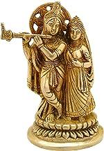 Radha Krishna Brass Idol Statue Hindu God Sculpture Religious - House Warming Gift & Home Decor Congratulatory Items