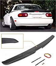 Extreme Online Store Replacement for 1990-1997 Mazda Miata MX5 MX-5 NA | EOS KG Works Style ABS Plastic Primer Black Rear Trunk Lid Wing Spoiler