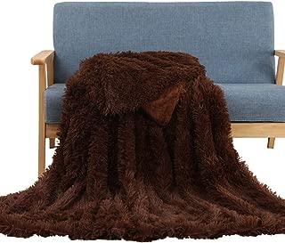 Soffte Cloud Super Soft Shaggy Longfur Throw Blanket Fuzzy Faux Fur Lightweight Warm Elegant Cozy Plush Sherpa Fleece Microfiber Blanket for Couch Bed Chair Photo Props Coffee (63