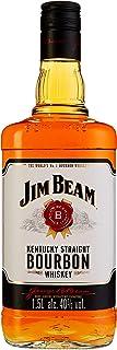 Jim Beam White Kentucky Straight Bourbon Whiskey, vollmundiger und milder Geschmack, 40% Vol, 1 x 1,5l