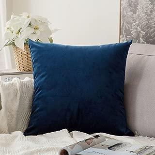 MIULEE Velvet Soft Soild Decorative Square Throw Pillow Covers Cushion Case for Sofa Bedroom Car 24 x 24 Inch 60 x 60 cm