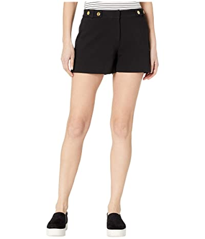 MICHAEL Michael Kors Snap Waist Shorts (Black) Women