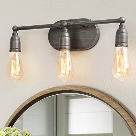 lnc 3391 bathroom lighting fixtures farmhouse industrial vanity wall sconce with silver painting finish for kitchen 3 heads a03391 a03391