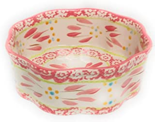 "Temp-tations Scalloped Mini Casserole/Cake Pan, 6"" Flower Shape Dish, Small Baker (Old World Pink)"