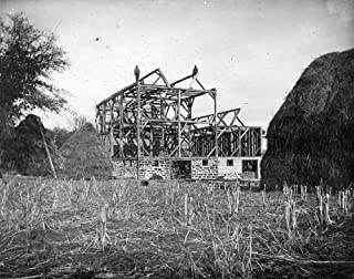 Wisconsin Barn C1900 Nmen On The Rafters Of An Unfinished Barn In Black River Falls Wisconsin Photograph By Charles Van Sc...