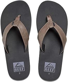 Men's Sandal Twinpin | Comfortable Men's Flip Flop With Vegan Leather Upper, Grey, 7