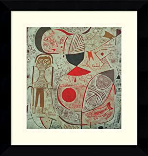 Framed Wall Art Print Printed Sheet with Pictures, 1937 by Paul Klee 12.88 x 13.38