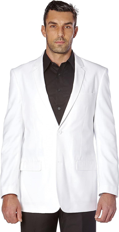CONCITOR Men's Suit Jacket Separate Blazer Coat Solid WHITE Color Two Button