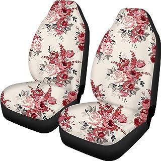 FKELYI Capas florais vintage para assento frontal de carro, acessórios de assento universal para automóveis servem na maio...