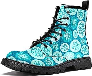 Bottes d'hiver chaudes à lacets avec flocons de neige sur cercles pour homme, adolescent, garçon