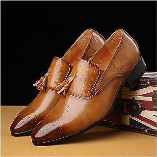 Zapatos casuales Zapatos casuales de los hombres, cuero de la PU borla con flecos en relieve en relieve, pulido pícaro de ...