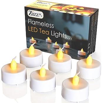 LED Teelichter 8 Stück mit je 8 SMD-LEDs warmweiß Batterie 2 x CR2032