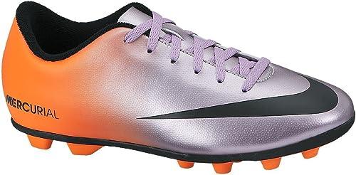 Nike , Chaussures de Foot pour Garçon MTLC Mach PRPL noir-TTL orng 33.0EU  20.5cm