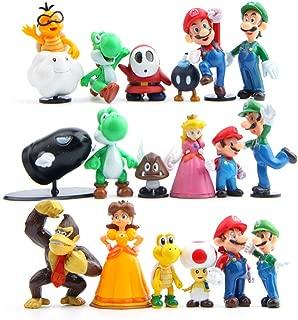 18 Pcs (1 Set ) Super Mario Bros Super Mary Princess, Turtle, Mushroom, Orangutan , Super Mary Action Figures, 1.2