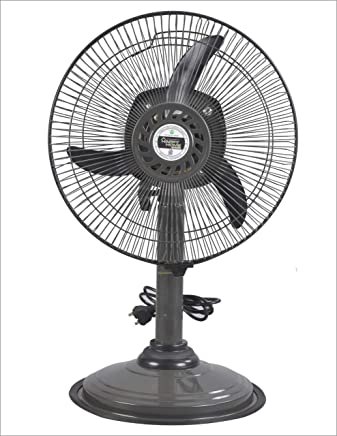 Varshine Happy Home || Laurels || Mini Pedestal Fan || ISI Approved Copper Motor || 1 Year Warranty || Sweep- 300 MM, 12 Inches,metal body G-46