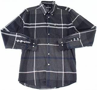 Men's Shirt Button Down Tailored-Fit Plaid Grays