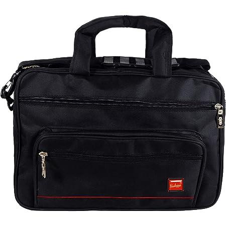 NVS Office Bags 16 INCH Black for Men, Office Messenger Bag, Office Laptop Bag