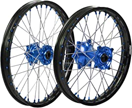 ProTrax Complete Wheel Rim Set Blue Hub Front and Rear 21