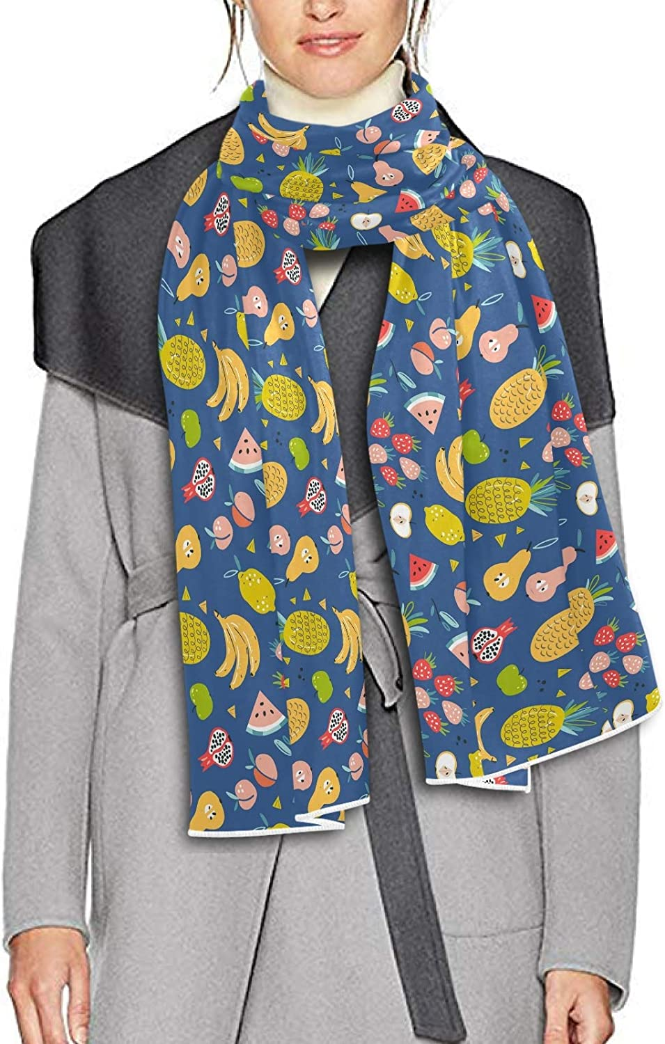 Scarf for Women and Men Tropical Fruit Pineapple Blanket Shawl Scarf wraps Soft thick Winter Oversized Scarves Lightweight
