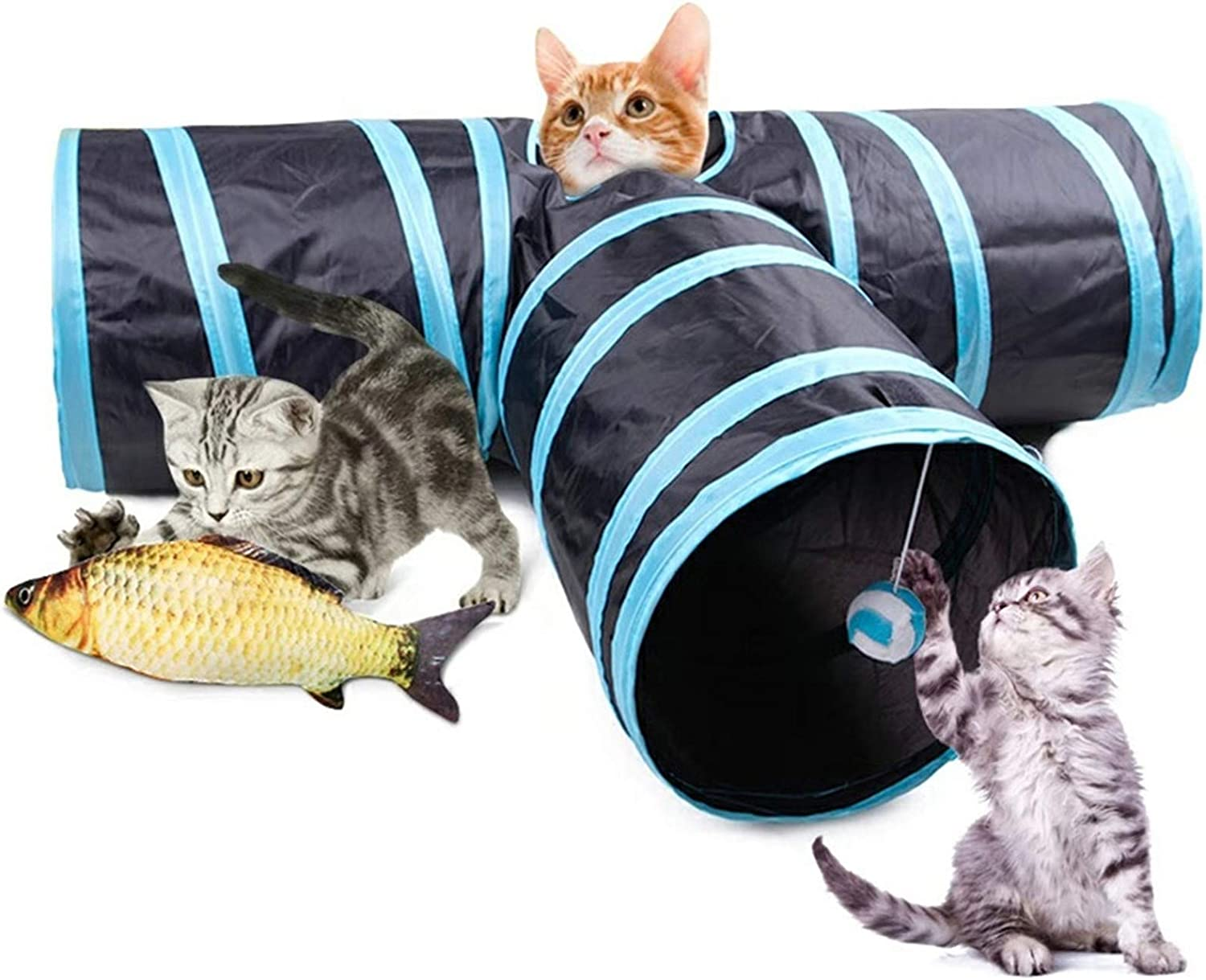 Blnboimrun Popular Courier shipping free shipping popular Pet Cat Tunnel for Way Tube Indoor,Collapsible 3 To