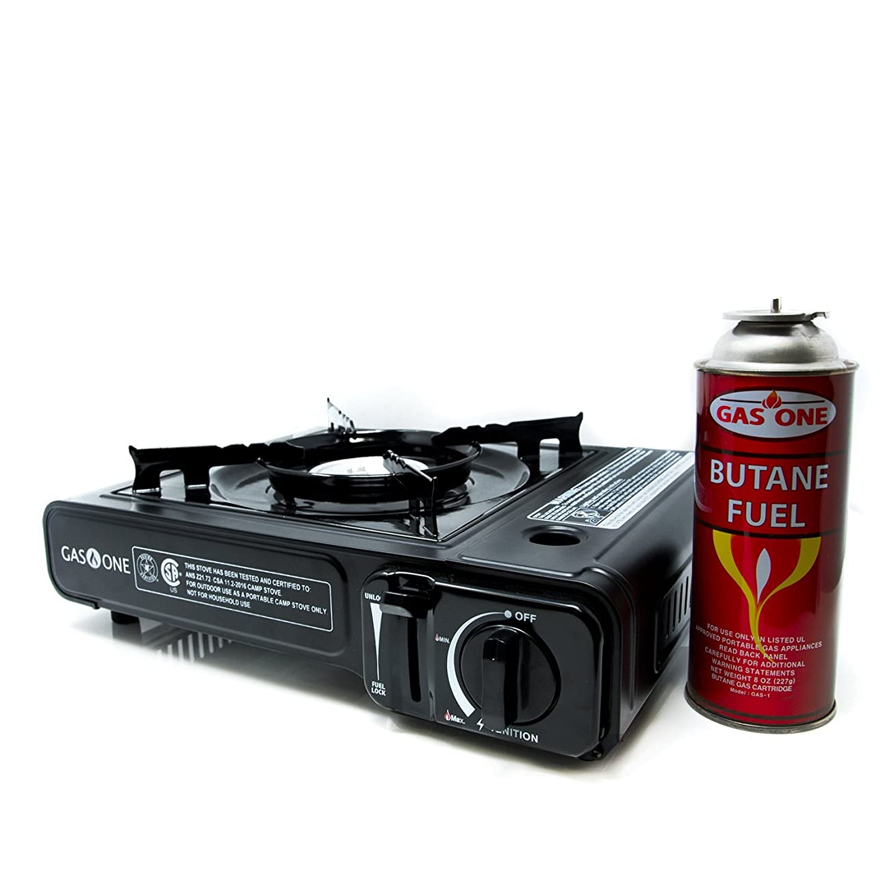 Gas ONE GS-3000 Portable Gas Stove with Carrying Case, 9,000 BTU, CSA Approved, Black tctqcajffkjs0