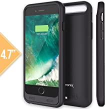 Alpatronix iPhone 6S/6 Battery Case, 3100mAh MFi Certified Slim Portable Protective Extended Charger Cover Compatible with iPhone 6S & iPhone 6 (4.7 inch) BX140 - (Black)